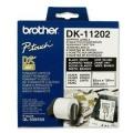 Papírový štítek Brother DK11202, 62mm bílý