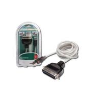 Redukce Digitus USB - IEEE 1284, 1,8m - černý/šedý/bílý
