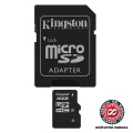 Paměťová karta Kingston MicroSDHC 16GB Class 4 + adapter
