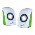 Reproduktory Genius SP-U115 2.0 - bílé/zelené