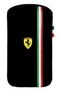 Pouzdro na mobil Ferrari Scuderia V3 pro Apple iPhone 3G/4 - černé