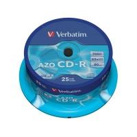 Disk Verbatim CD-R 700MB/80min. 48x, Crystal, 25-cake