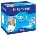 Disk Verbatim CD-R 700MB/80min. 52x, printable, jewel box, 10ks
