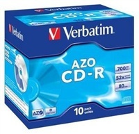 Disk Verbatim CD-R 700MB/80min, 52x, jewel box, 10ks
