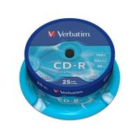 Disk Verbatim CD-R 700M/80min, 52x, Extra Protection, 25-cake
