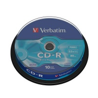 Disk Verbatim CD-R 700MB/80min, 52x, Extra Protection, 10-cake