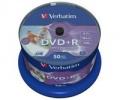 Disk Verbatim DVD+R 4,7GB, 16x, printable, 50-cake