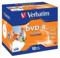 Disk Verbatim DVD-R 4.7GB, 16x, printable, jewel box, 10ks
