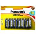 Baterie alkalická Panasonic AA, R06 ALKALINE POWER, BLISTR 10KS, LR6APB/10BW