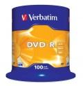 Disk Verbatim DVD-R 4,7GB, 16x, 100-cake