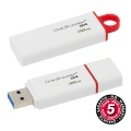 USB flash disk Kingston DataTraveler G4 32GB USB 3.0 - červený