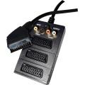 Kabel EMOS SB2300, SCART - 3SCART+3RCA+SVHS 0,5M