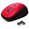 Myš Trust Yvi Wireless - červená