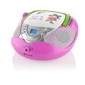 Radiopřijímač s CD GoGEN MAXI RADIO P, CD/MP3/USB, růžový