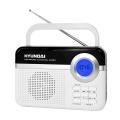 Radiopřijímač Hyundai PR 471 PLL SU WS, digitální FM tuner, USB a mikro SD vstup, bílý