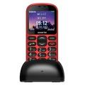 Mobilní telefon Aligator A880 GPS Senior - červený