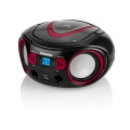Radiopřijímač Hyundai TRC 533 AU3BR s CD/MP3/USB, černá/červená