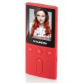 """Přehrávač MP3/MP4 Hyundai MPC 501 FM, 4GB, 1,8"""" displej, FM tuner, SD slot, červená barva"""