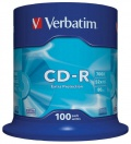 Disk Verbatim CD-R 700MB/80min, 52x, Extra Protection, 100-cake