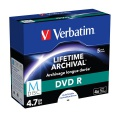 Disk Verbatim DVD-R M-Disc 4,7GB, 4x, printable, jewel box, 5ks