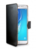 Pouzdro na mobil flipové Celly WALLY pro Samsung Galaxy J7 (2016) - černé