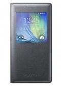 Pouzdro na mobil flipové Samsung S-View pro Galaxy A5 (EF-CA500B) - černé
