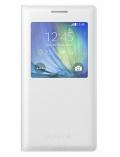 Pouzdro na mobil flipové Samsung S-View pro Galaxy A5 (EF-CA500B) - bílé