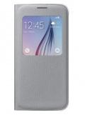 Pouzdro na mobil flipové Samsung S-View pro Galaxy S6 (EF-CG920BS) - stříbrné