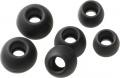 Příslušenství Vivanco silikonové pady pro mikrosluchátka, 6ks - černé