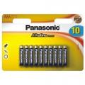 Baterie alkalická Panasonic ALKALINE POWER AAA, LR03APB/10BW, blistr 10ks