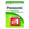 Baterie nabíjecí Panasonic R03 EVOLTA, 750NiMH, P03E/4BC