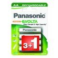 Baterie nabíjecí Panasonic R06 EVOLTA, 1900NiMH, P6E/4BC