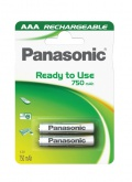Baterie nabíjecí Panasonic Evolta AAA, HR03, 750mAh, blistr 2ks