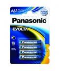 Baterie alkalická Panasonic AAA, LR03, Evolta, blistr 4ks