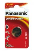 Baterie Panasonic CR2032 LITHI, 3V, 220mAh, CR2032/1BP