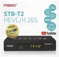Set-top box Maxxo STB T2 + WI-FI adaptér